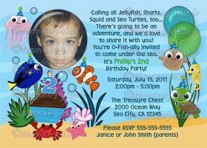 Ocean under the sea birthday party invitation digital party ocean under the sea birthday party invitation digital stopboris Gallery