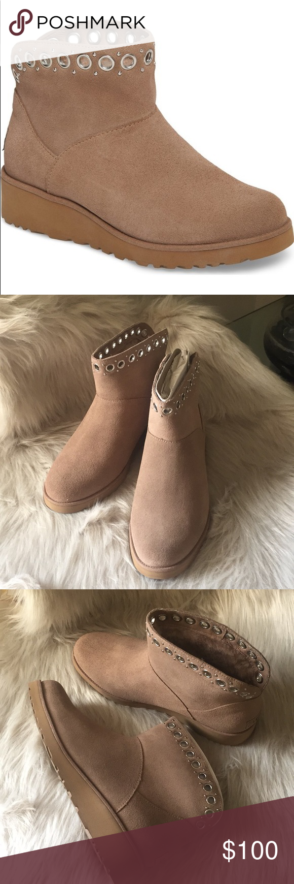 362bfa91549 NEW UGG RILEY. Color FAWN Model  1020054 A touch of hardware transforms this