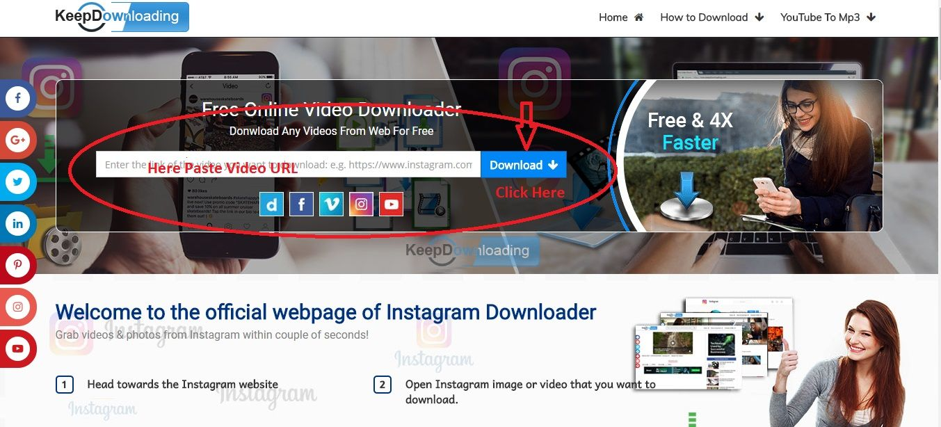 Keepdownloading provide you to service to free video download from