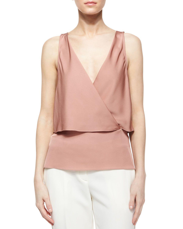 70123d31b8de92 Alizay Modern Silk Top, Women's, Size: M, Dark Cameo - Theory ...
