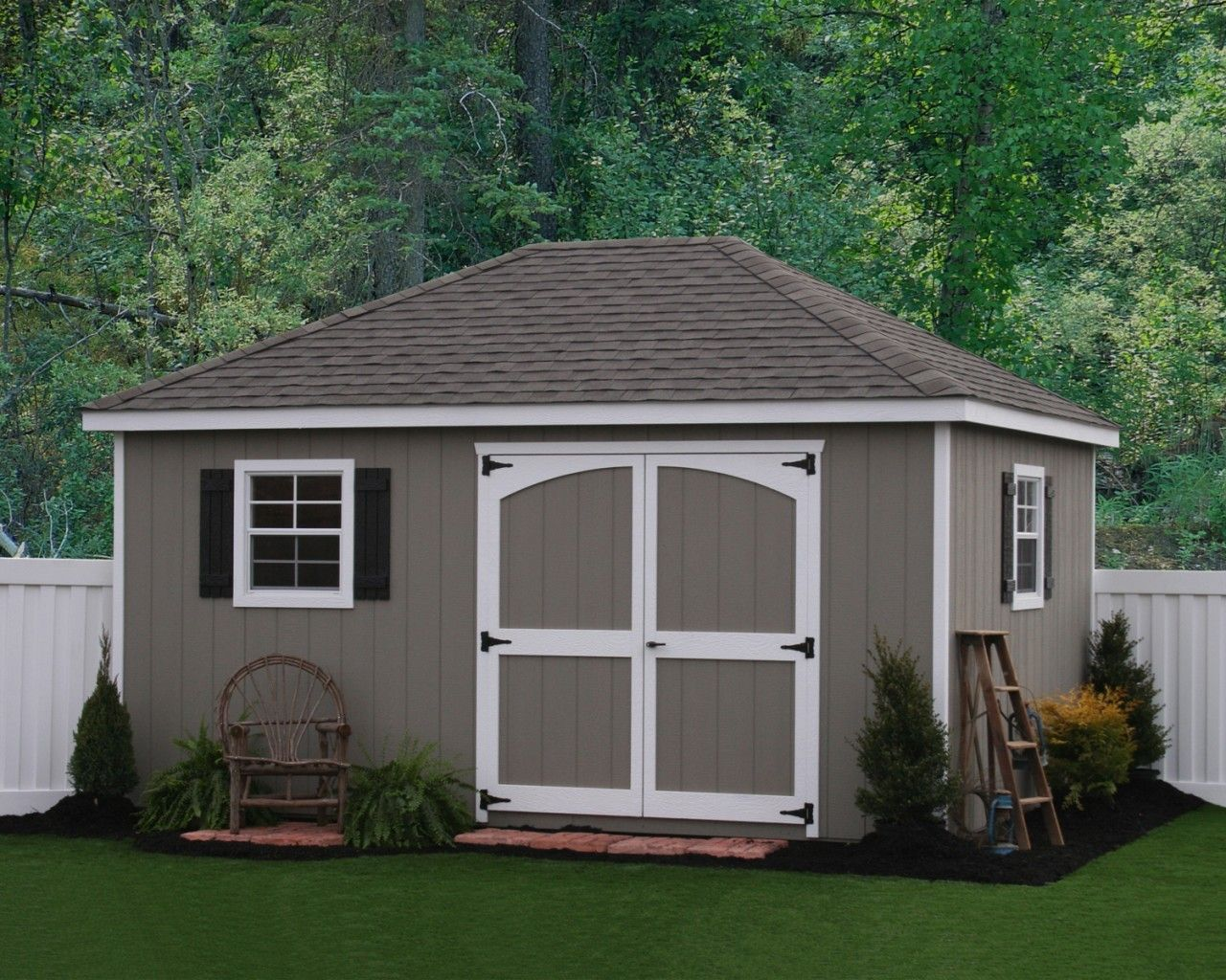Best Shed Colors Exterior Designs Pinterest Yards 400 x 300