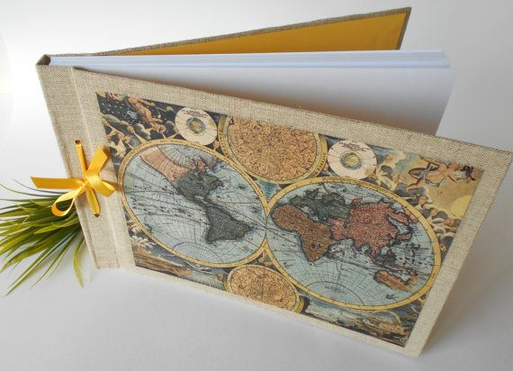 Map journal sketchbook with 100 pages a4a3a5 refillable fabric old world map sketchbook journal with 100 or door exiartsecocrafts gumiabroncs Images