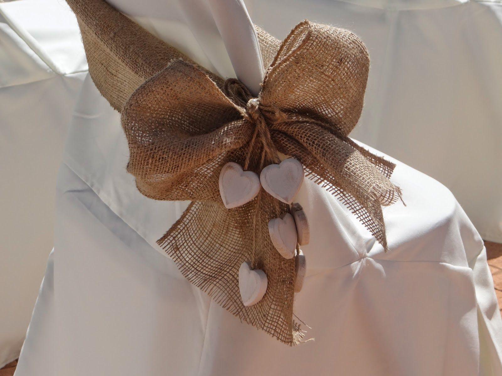 Decorar bodas tela de saco buscar con google boda - Manualidades con tela de saco ...
