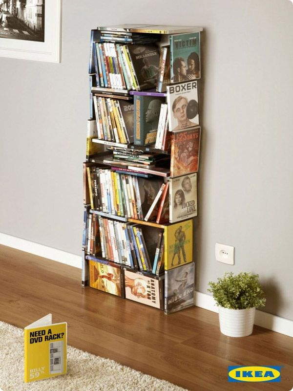 #Ikea clever #Ad- Need a DVD rack?