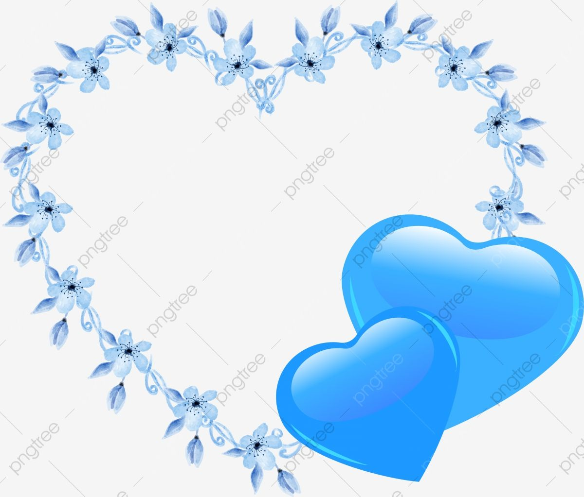 Hand Drawn Heart Decoration Hand Drawn Pattern Hand Painted Border Blue Heart Decoration Blue Clipart Blue Pattern Blue Border Png And Vector With Transparen Heart Hands Drawing How To Draw Hands