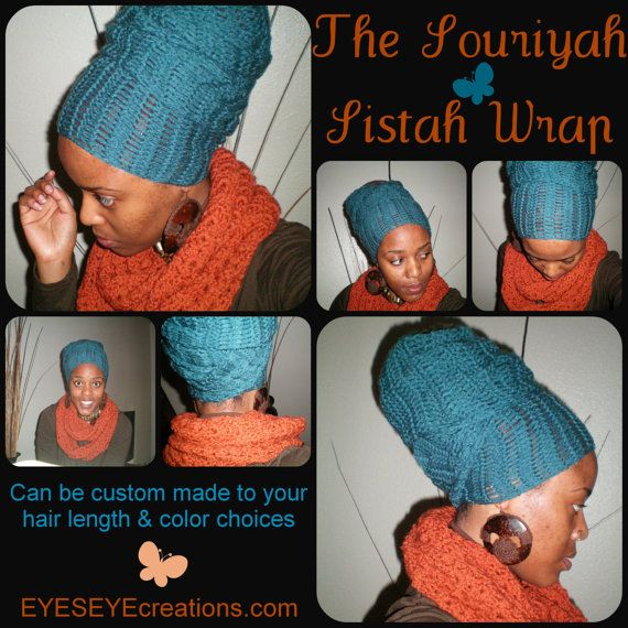 The Souriyah Sistah Wrap (How-To video link included) – crochet african head wrap – MADE TO ORDER