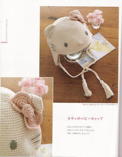 Free Hello Kitty Hat Crochet Pattern Crochet Pinterest Hat