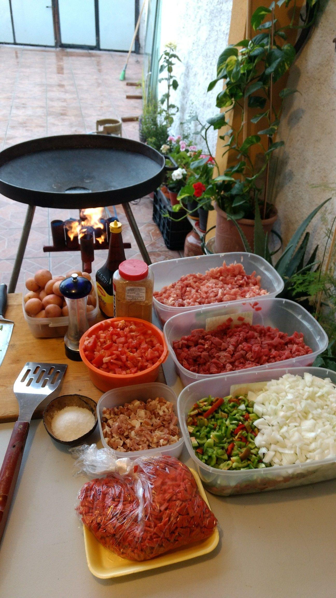 Photo of Discada (saucisse de porc aux côtes de boeuf milanaise pour rôtir l'oignon chili mo …