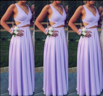 Backless Sleeveless Chiffon Prom Dresses,Bridesmaid Floor Length Prom Dresses from Show Fashion