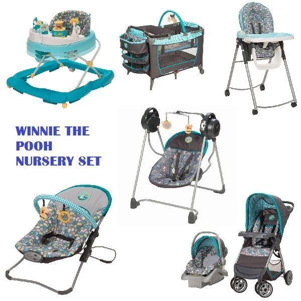 7 Pc Winnie Pooh Set Newborn Baby Infant Playard Stroller Car Seat Walker Swing From 6990