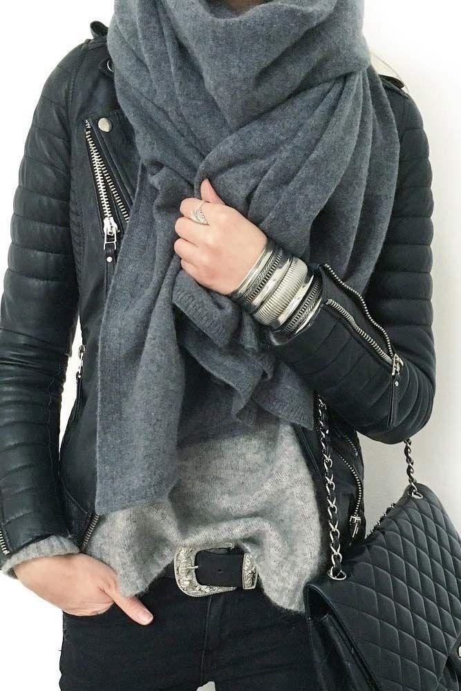 42 Cute Ways How To Wear A Scarf This Season