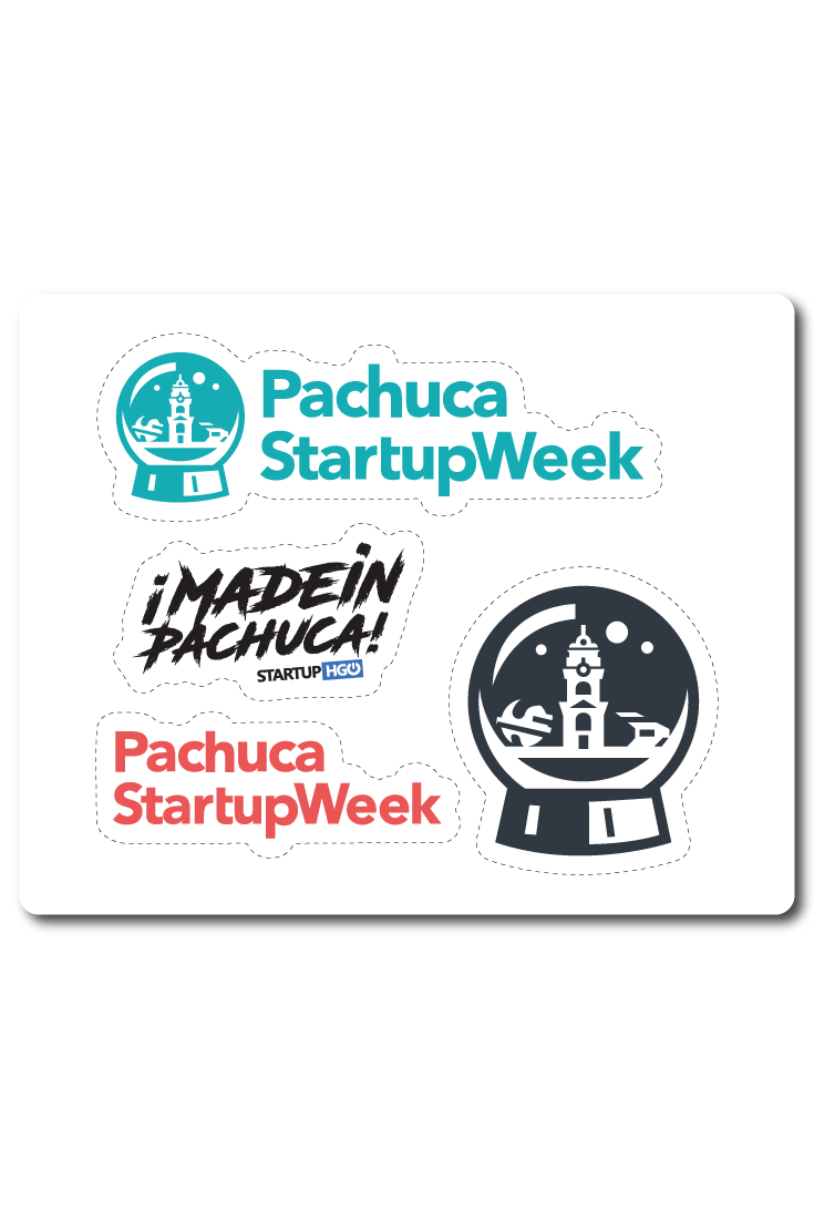 We have custom sticker sheets down in mexico this week for pachuca startup week where they are starting the first day of local business leaders and