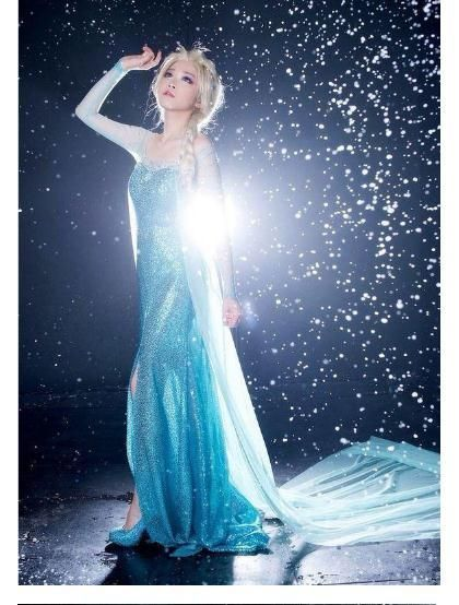 Elsa Chest Wrapped Printing Dress Ladies Perspective Cosplay Cinderella Frozen Dinners Dress Adult Beaded Evening Party Dress Hms20 From Xinying2016, $24.93 | Dhgate.Com