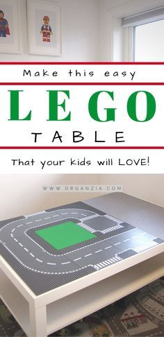 Make this easy IKEA hack Lego Table for your kids! It's a perfect Lego play tabl…