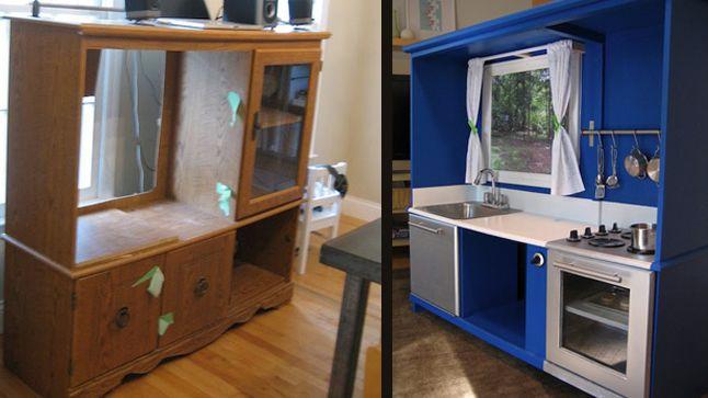 Donner une deuxi me vie un vieux meuble cuisine bois mobilier de salon vieux meubles - Cuisine a donner ...