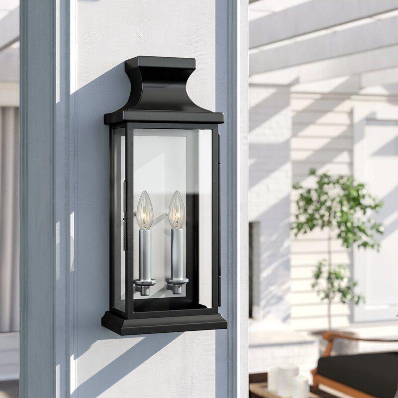 Folkeste 2 Light Outdoor Wall Lantern In 2020 Outdoor Wall Lantern Outdoor Sconces Wall Lantern