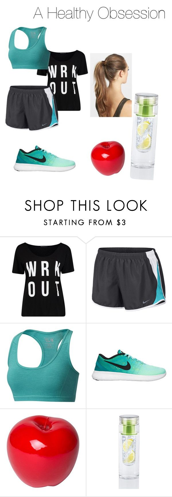 """A healthy obsession"" by internet-adict-777 ❤ liked on Polyvore featuring NIKE, Mountain Hardwear, Bitossi and France Luxe"