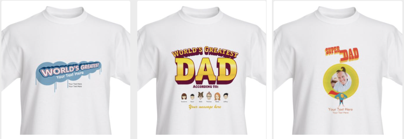Vistaprint Personalized Fathers Day T Shirts 599 Free