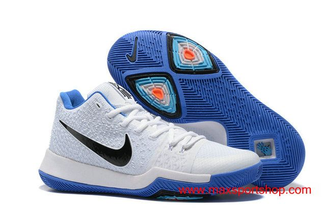 wholesale dealer 167f8 752c3 Nike Kyrie 3 White Blue Black Men's Basketball Shoes $76.00 ...