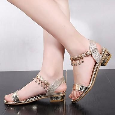 57ebce3891fd Girls  Shoes PU(Polyurethane) Summer Flower Girl Shoes   Tiny Heels for  Teens Sandals for Gold   Silver   Pink
