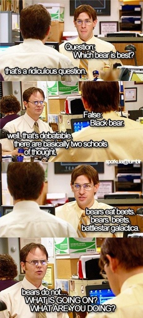 The Office Dwight vs. Jim Office quotes, The office