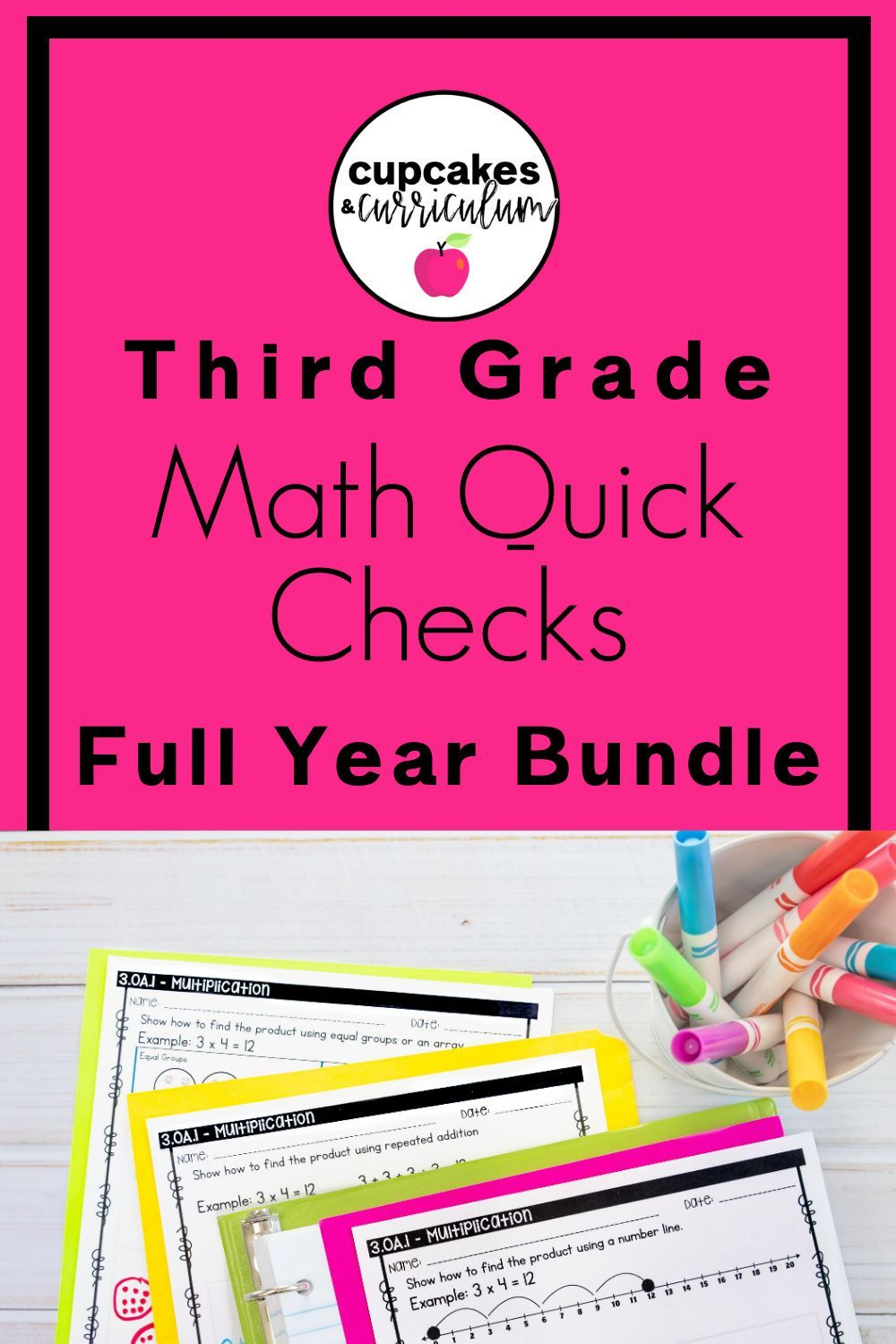 Digital Learning Third Grade Math Bundle Cupcakes Curricul Third Grade Common Core Math Differentiated Math Activities Social Emotional Learning Activities [ 1500 x 1000 Pixel ]