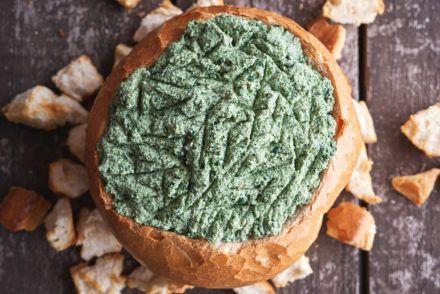 Cob Loaf Spinach Dip - Delightful Vegans