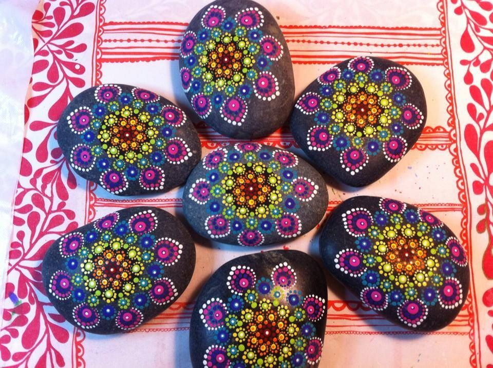 7 chakra colors mandala stone mandala stones chakra