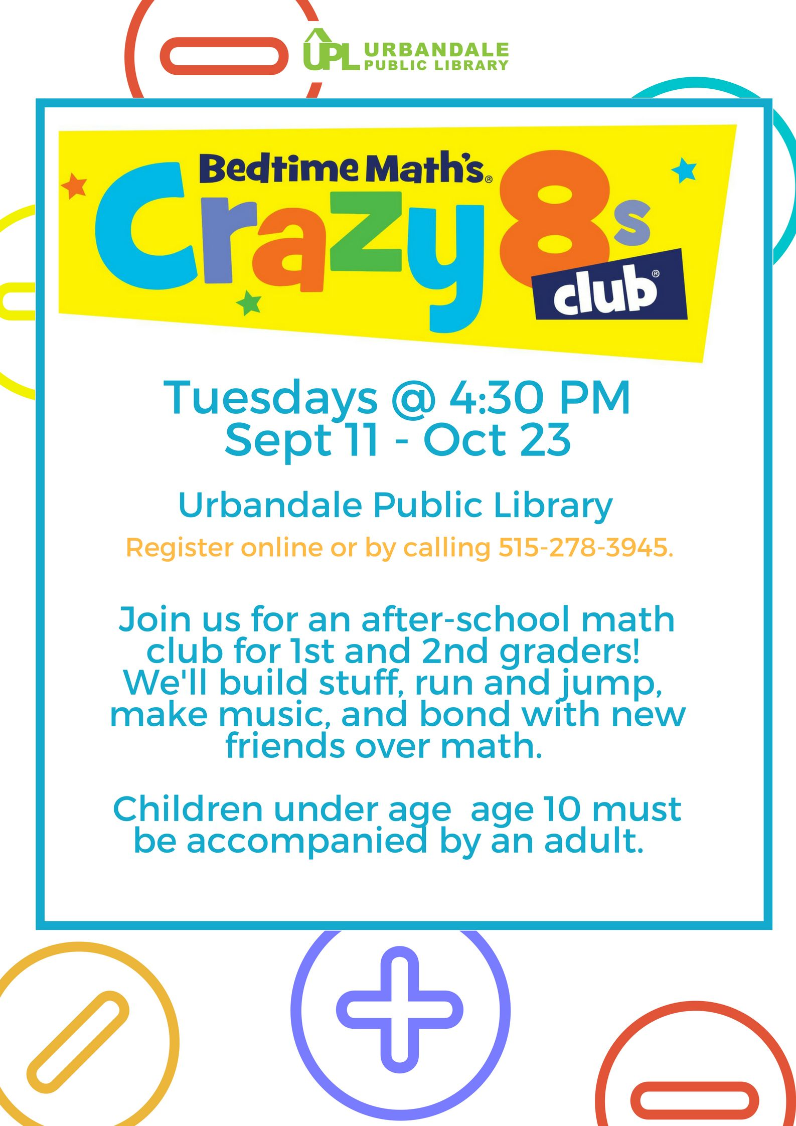 Crazy 8s is an after-school math club for 1st & 2nd graders designed ...