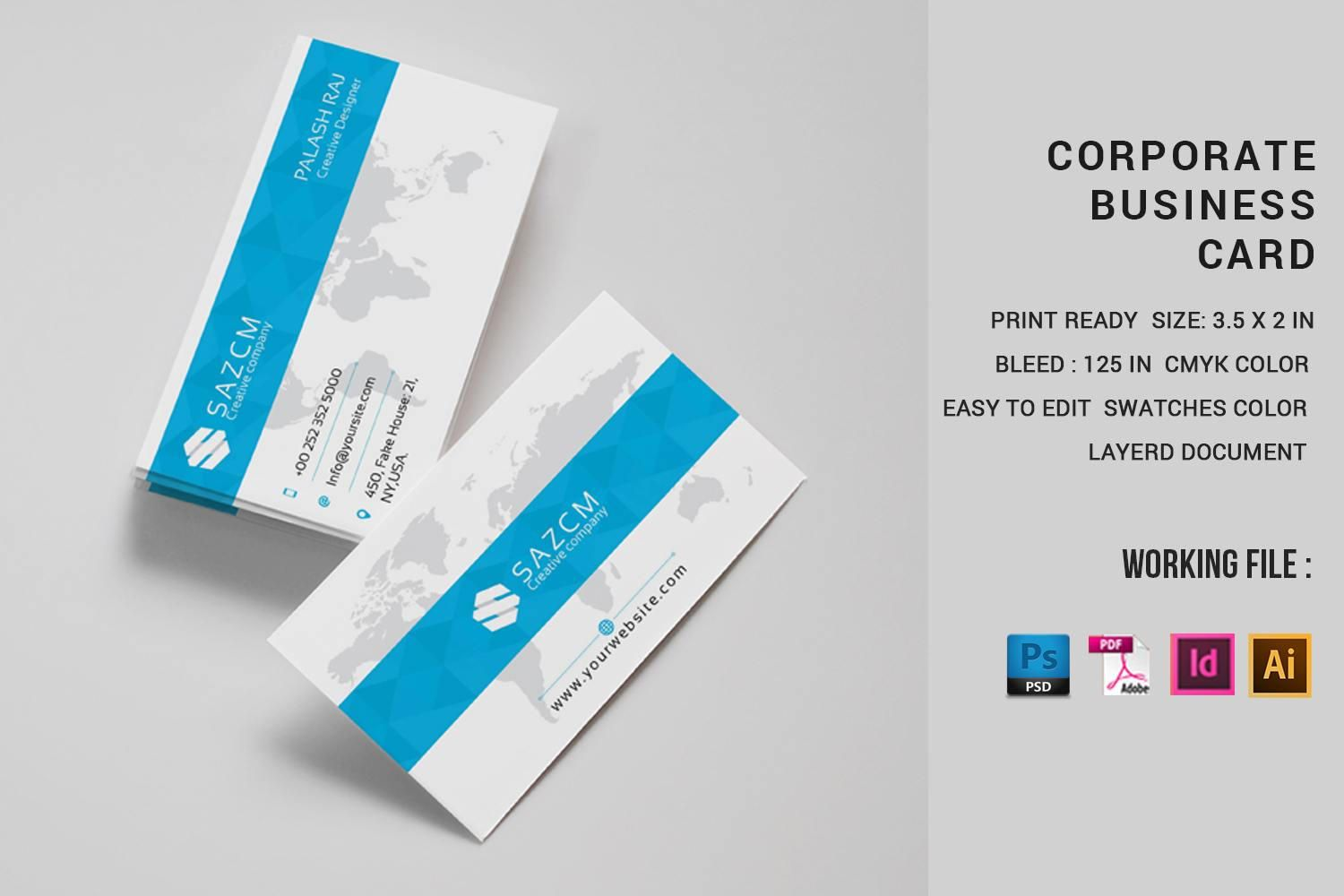 Professional Business Card Template Corporate Business Card Etsy Business Card Template Word Professional Business Cards Templates Business Card Photoshop