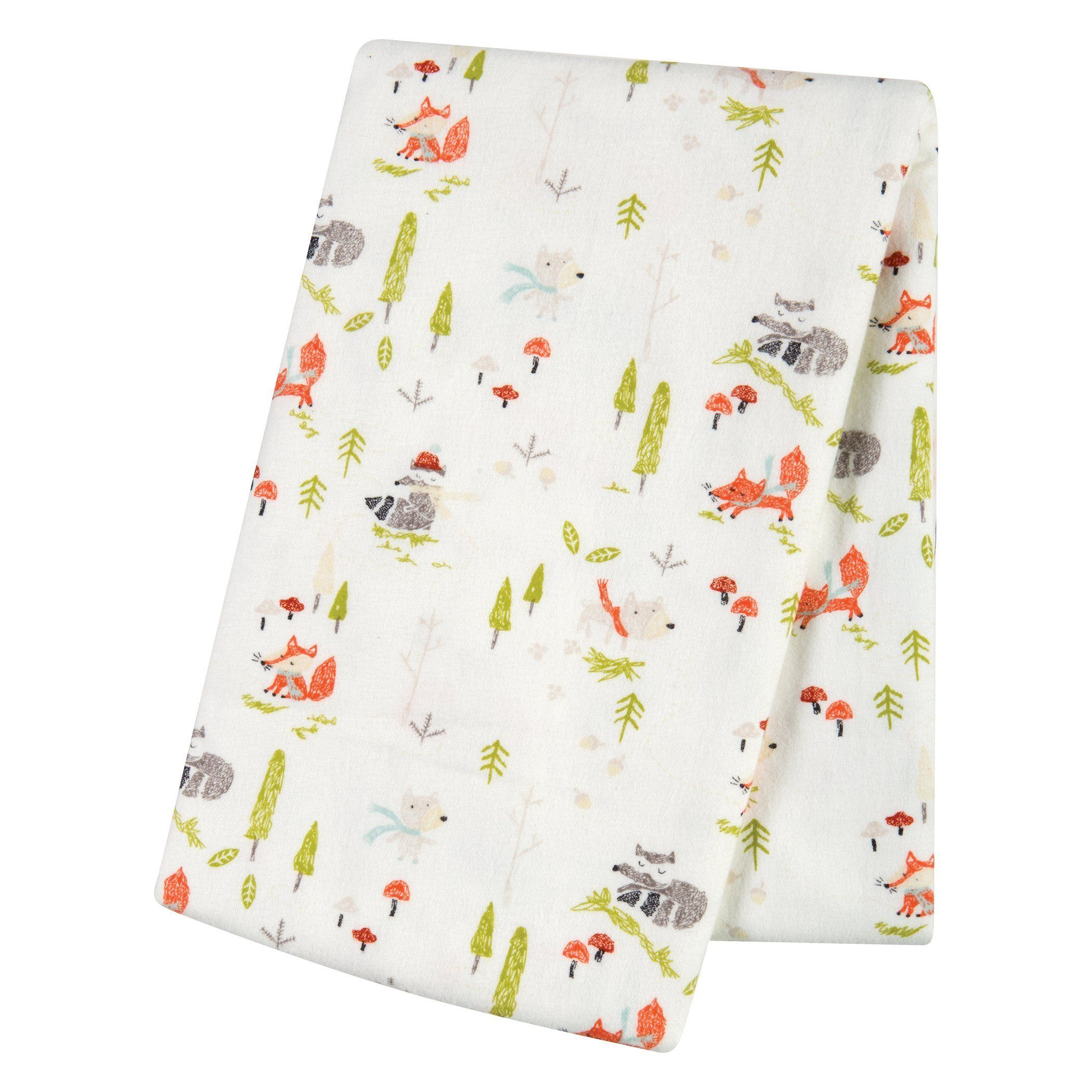 Trend Lab Deluxe Flannel Fitted Crib Sheet Winter Woods