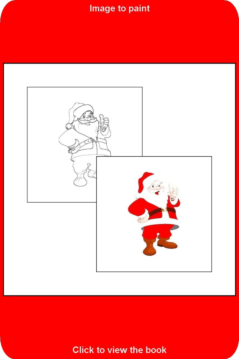 021 Sample Picture From The Book The Coloring Book With Santa Claus Coloring Books Toddler Coloring Book How To Draw Santa