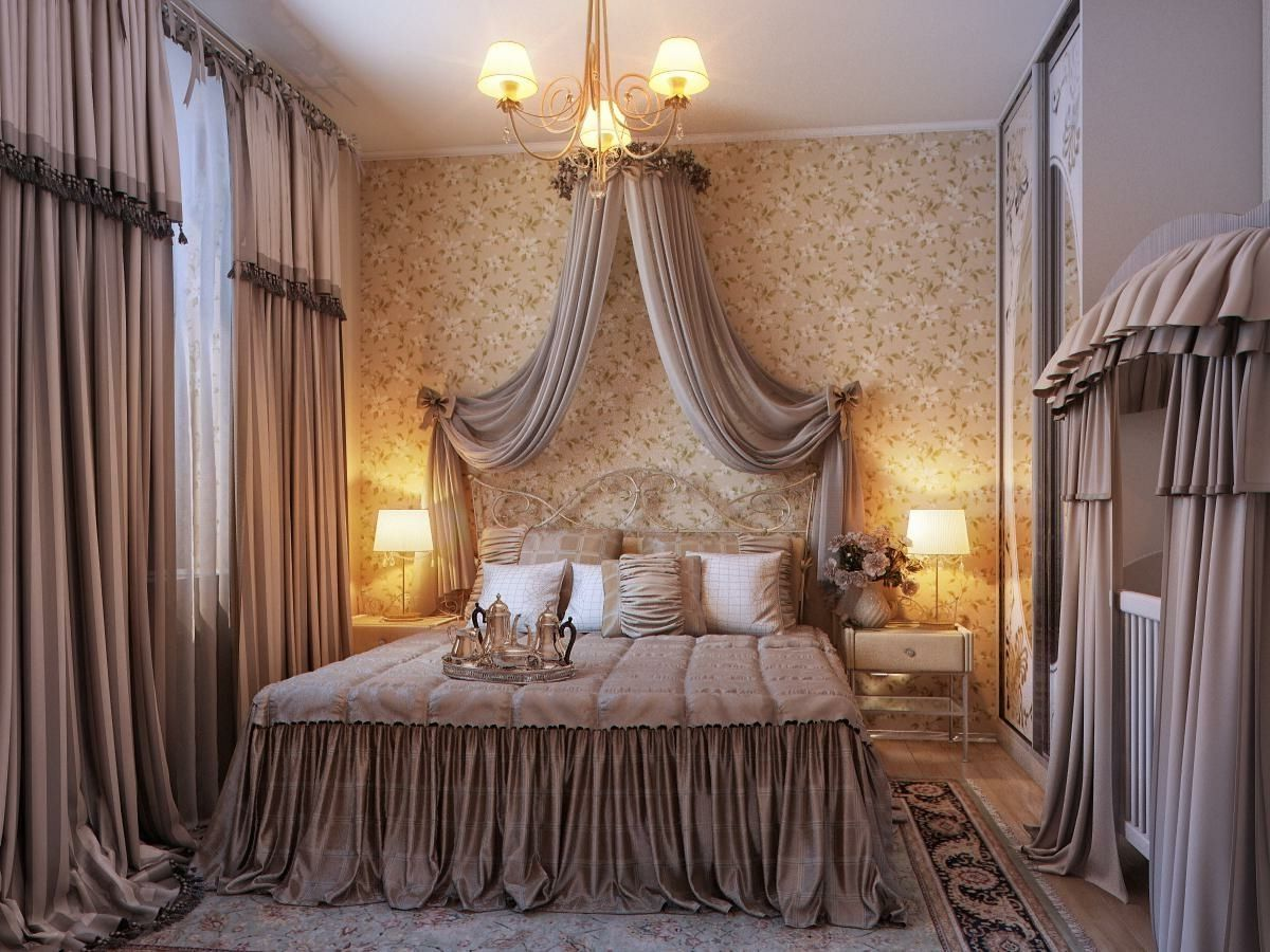Picture Of Fancy Luxury Couple Bedroom Design Canopy Bed Curtains Idea Master Bedrooms Decor Romantic Bedroom Design Romantic Bedroom Decor