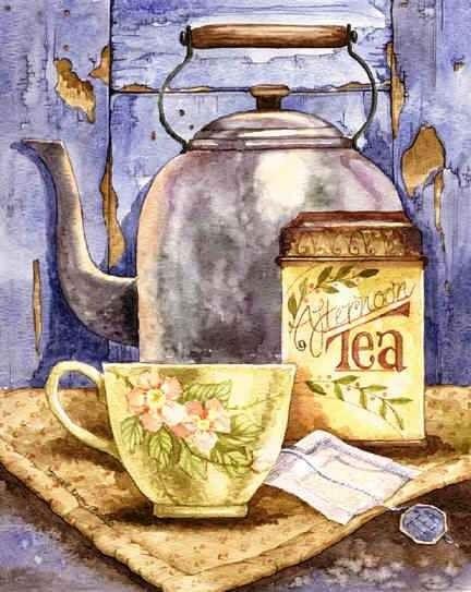 Чайные картинки / Мастер-класс | Иллюстрации чая