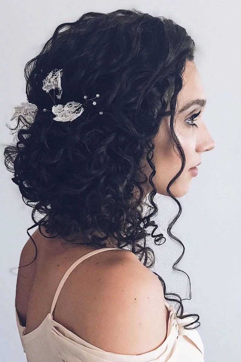 Stunning Wedding Hairstyles For Naturally Curly Hair With Images