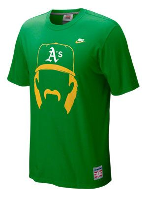Oakland Athletics Green Nike Cooperstown Hair-itage Dennis Eckersley Player  Tee 899ac7c0565