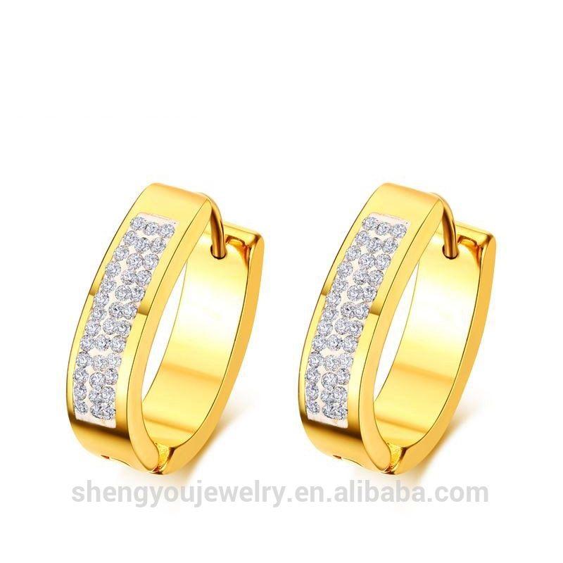 Shining Earring 18k Gold Earrings Women Christmas Gift for girls ...