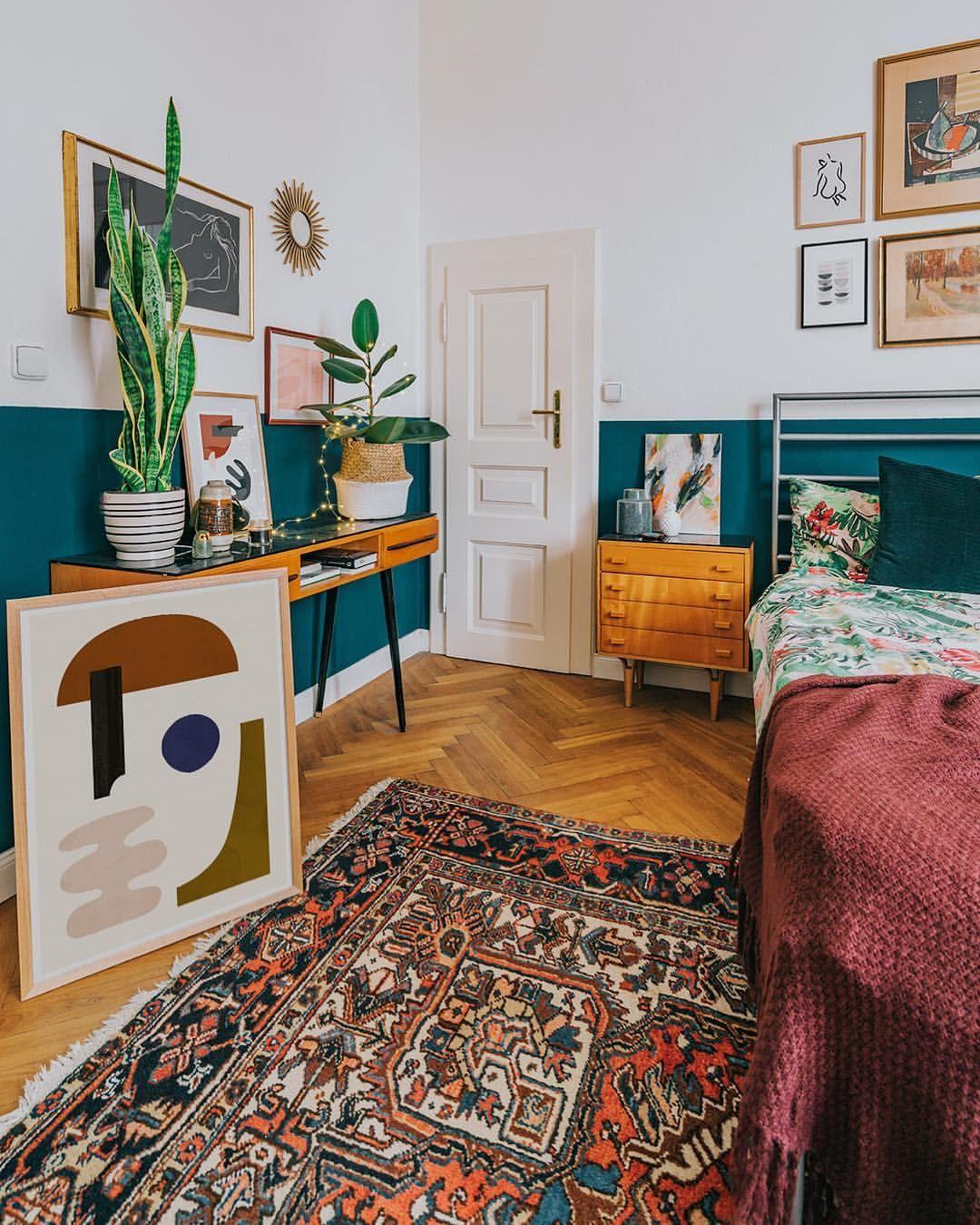 Minimalist Art Of Jan Skacelik Inside A Boho Bedroom With Mid
