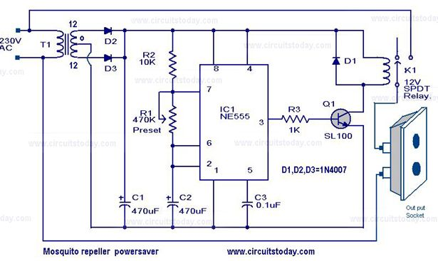 The circuit diagram of a mosquito repellent power saver circuit is on popcorn maker diagram, electric fan diagram, speaker diagram, induction cooker diagram, record player diagram, touch screen diagram, magic bullet diagram,