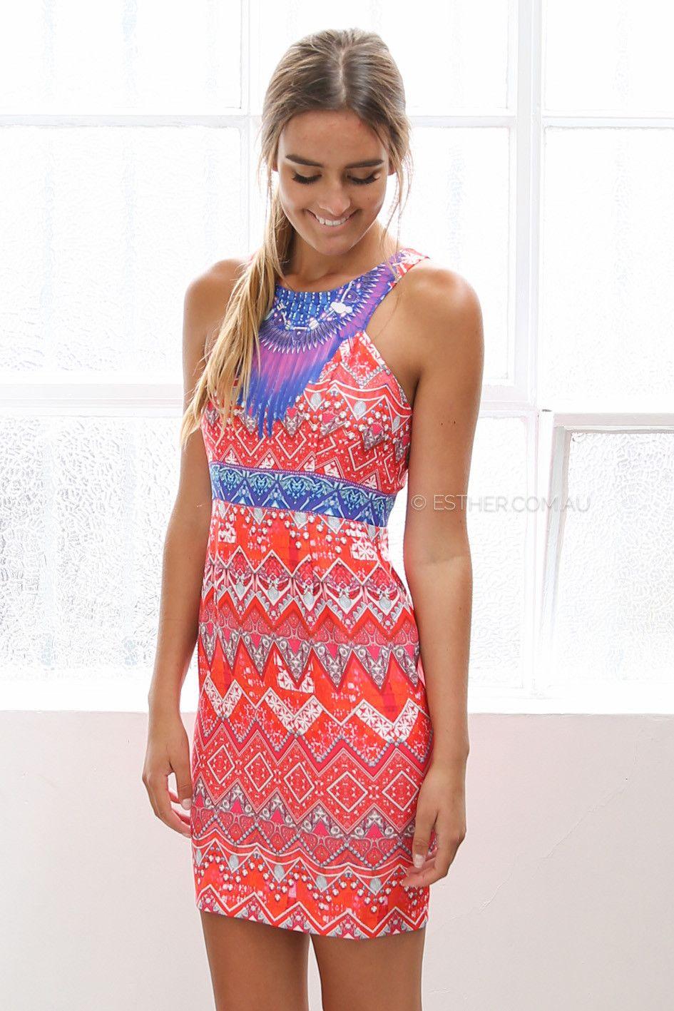 aruba dress - orange | Esther clothing Australia and America USA ...
