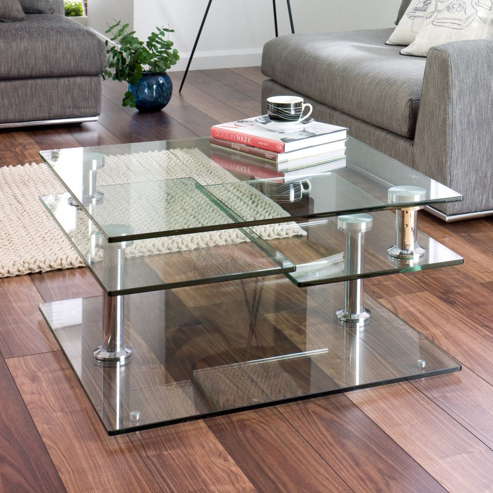 30 Glass Coffee Tables That Bring Transparency To Your Living Room Modern Glass Coffee Table Coffee Table Glass Table Living Room [ 1000 x 1000 Pixel ]