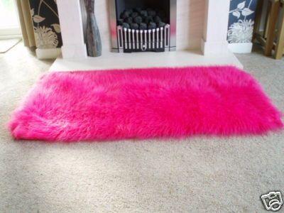Barbie Hot Pink Faux Sheepskin Shaggy