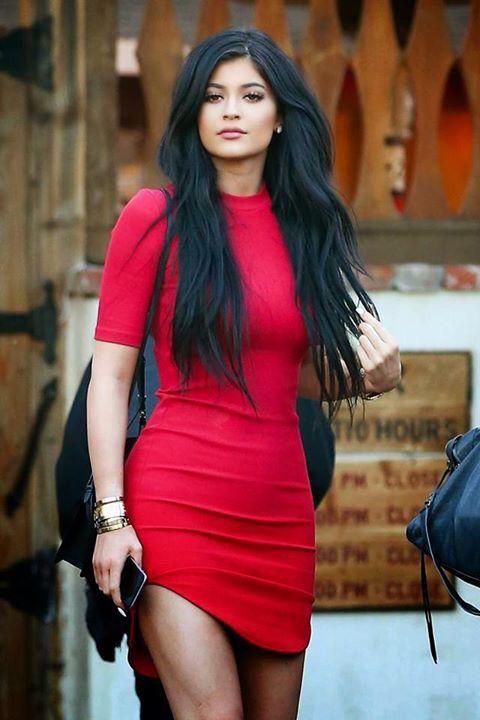Vestido rojo kylie jenner