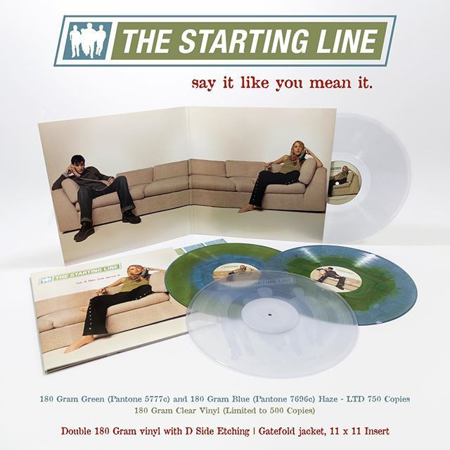 The Starting Line Say It Like You Mean It Double Lp With D Side Etching Gatefold Jacket And 11x11 Insert Available On L Vinyl Clear Vinyl Photo And Video