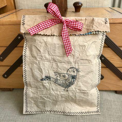 Basteln mit Tetrapack - bezaubernde DIY Geschenktüte aus nur 3 Dingen basteln - #zuhausediy
