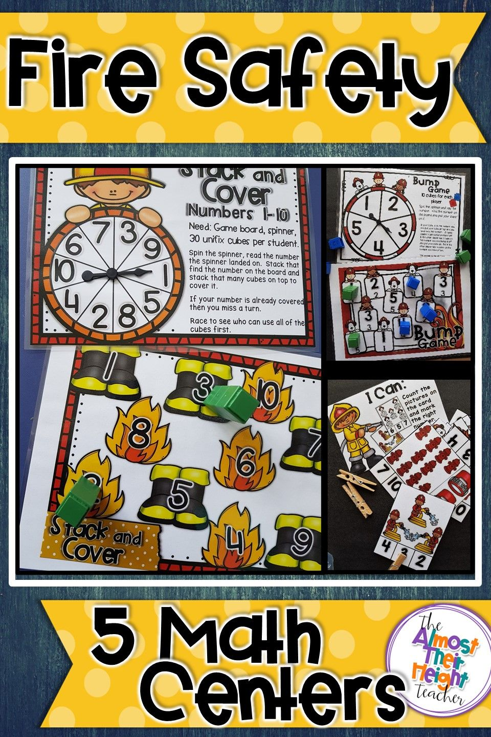 Fire Safety Week Math Activities 5 Fire Themed Number
