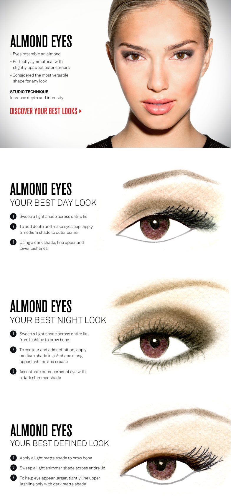 Eye Makeup For Almond Eyes By Smashbox Make Me Up Pinterest