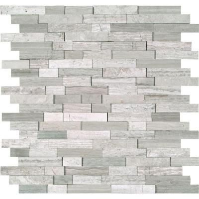 Msi White Quarry Splitface 12 In X 10 Mm Marble Mesh Mounted Mosaic Tile