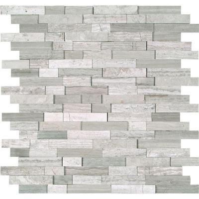 msi white quarry splitface 12 in x 12 in x 10mm marble mesh rh pinterest com home depot faux stone backsplash