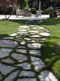 Beautiful Garden Paths Made Of Natural Stone Backyard Walkway